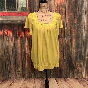 Charter Club Woman Top (mustard color)